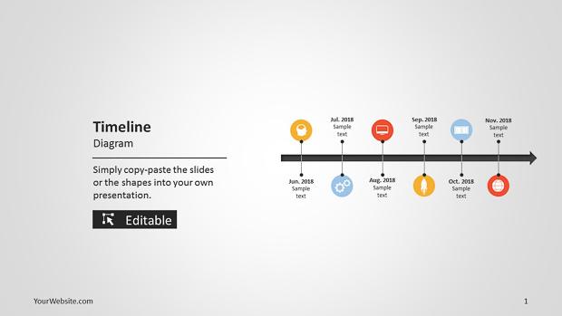 Timeline powerpoint diagram slide ocean for Timeline on google slides