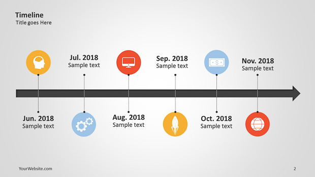 Get This Beautiful Editable PowerPoint Timeline Template Free - Free powerpoint timeline templates