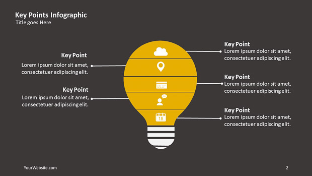 Key Points PPT Infographic – Slide Ocean