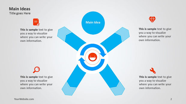 Main Idea PowerPoint Infographic – Slide Ocean