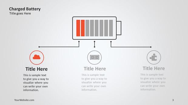 charged battery ppt infographic slide ocean. Black Bedroom Furniture Sets. Home Design Ideas