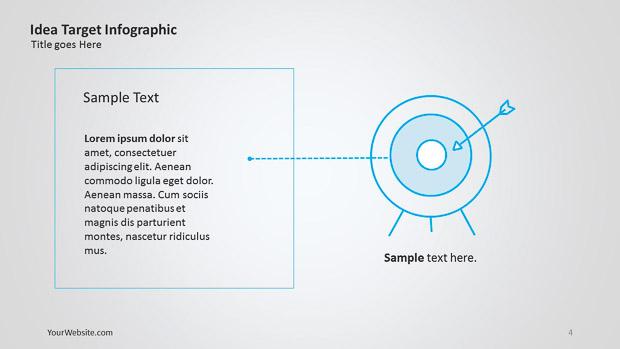 idea target powerpoint infographic slide ocean. Black Bedroom Furniture Sets. Home Design Ideas
