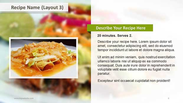 recipe powerpoint template - gse.bookbinder.co, Modern powerpoint
