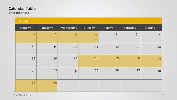 Calendar powerpoint table slide ocean calendar powerpoint table this is a calendar made in powerpoint the template can be very useful for presenting information and project dates toneelgroepblik Gallery