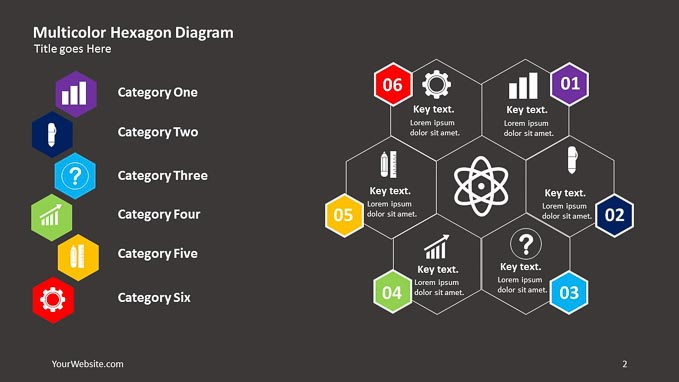 Multicolor hexagon powerpoint diagram slide ocean multi color hexagon powerpoint diagram a simple diagram to help you present your information visually the diagram is free and compatible with powerpoint toneelgroepblik Image collections