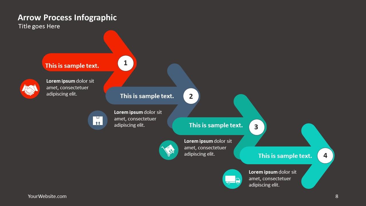 arrow process ppt infographic